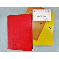 96年 スケードーニ製アジェンダ(ダイアリー) ピエロ・フェラーリ(エンツオの息子)がクリスマスに友人にプレゼントした物で直筆サイン付 縦25.3 横19 厚さ3