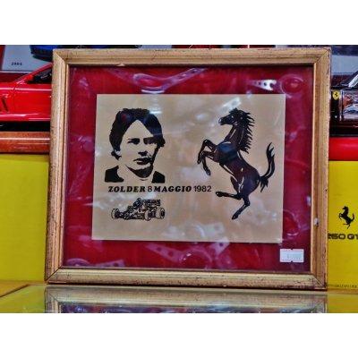 画像1: ジル・ビルニューブ ベルギーGP/1982 真鍮プレート縦22.5 横26.5