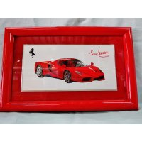 Ferrari社が永年勤続者限定に贈ったシルバープレート画装です。 エンツォフェラーリ 18×28