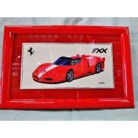 Ferrari社が永年勤続者限定に贈ったシルバープレート画装です。 フェラーリ・FXX 18×28
