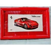 Ferrari社が永年勤続者限定に贈ったシルバープレート画装です。 フェラーリ599GTB 18×28
