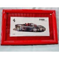 Ferrari社が永年勤続者限定に贈ったシルバープレート画装です。 フェラーリF40スパイダー18×28
