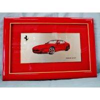 Ferrari社が永年勤続者限定に贈ったシルバープレート画装です。 フェラーリ456GT 20×30