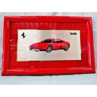 Ferrari社が永年勤続者限定に贈ったシルバープレート画装です。 フェラーリ348 18×28
