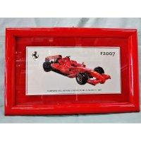 Ferrari社が永年勤続者限定に贈ったシルバープレート画装です。 フェラーリF1 2007 18×28