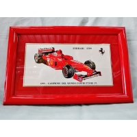 Ferrari社が永年勤続者限定に贈ったシルバープレート画装です。 フェラーリF1 1990 18×28