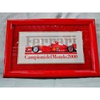 Ferrari社が永年勤続者限定に贈ったシルバープレート画装です。 フェラーリF1 2000 18×28