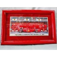 Ferrari社が永年勤続者限定に贈ったシルバープレート画装です。 フェラーリF1 2001 18×28