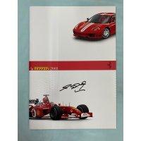 ラ・フェラーリ 2002 シューマッハ直筆サイン入り