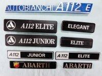 A112用 各種エンブレム アウトビアンキA112E(ブルー)で長さ24cm・参考