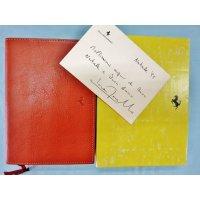 95年 スケドーニ製アジェンダ(ダイアリー) ルカ・モンテゼローモがクリスマスに友人にプレゼントした物で直筆サイン付 縦15 横20.3 厚さ3.7
