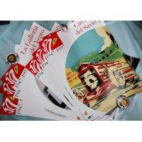 フェラーリ 50周年 記念ポスター(68×48)&ポストカード どちらも18枚づつのセットです。