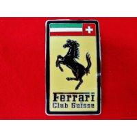 フェラーリクラブ スイス 七宝エンブレム 縦9.5cm 横5.5cm